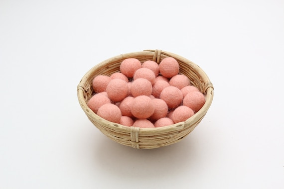 Pastel pink-colored felt balls for crafting #15 felt balls decoration pom poms versch. Colors Felt Balls Garlands Decoration Colorful