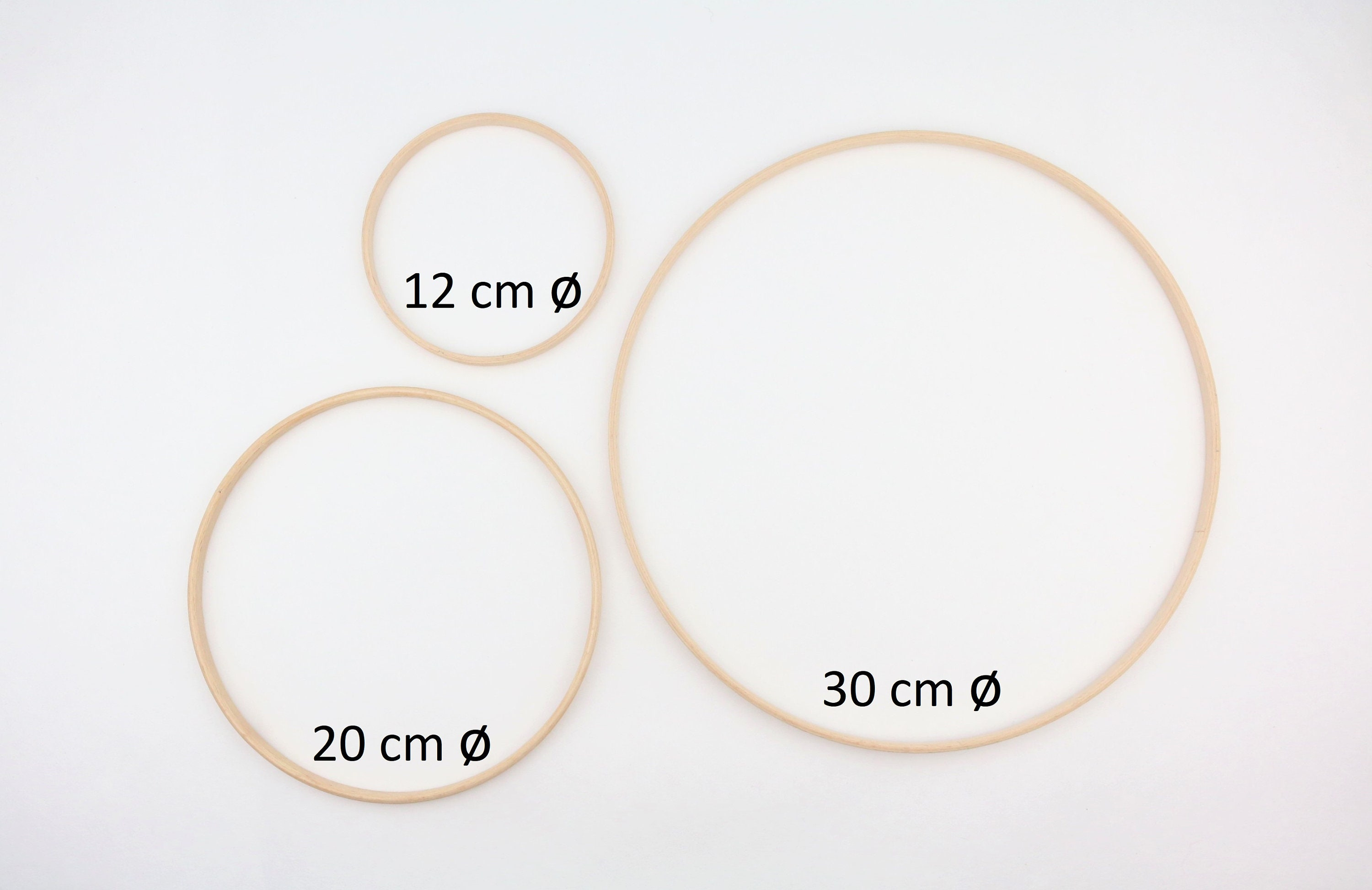 Ring Wooden 30 Cm Diameter Wooden Ring Accessories For