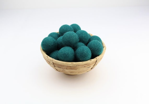 3 cm petrol-green felt balls for crafting #31 felt balls decoration pom poms versch. Colours Felt Balls Garlands Decoration