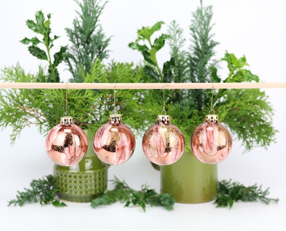 vintage Christmas tree baubles 4 pcs.  Christmas tree baubles tree decoration Christmas rustic ornament christmas decor