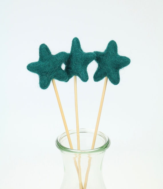 "Felt Star ""Lolli"" Various Colors Beautiful for Home Nursery Pom Pom Colorful Nursery"