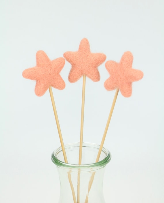 "Felt star ""Lolli"" various colors Beautiful for home nursery Pom Pom colorful joy give creativity"