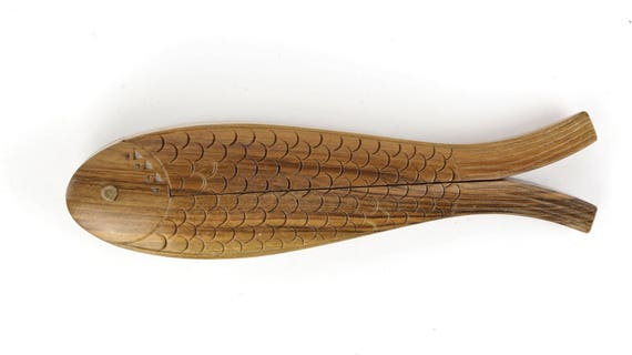 """Vintage Nutcracker """"The fish"""" intricately carved ore mountains-Antique nutcracker from Germany"""