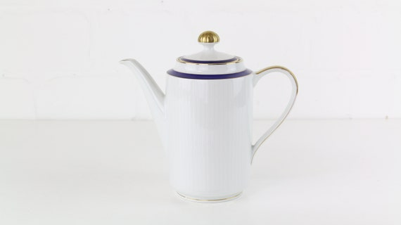 White vintage teapot Coffee pot from winterling Germany West Germany antique vintage coffee pots tea Pot German pottery