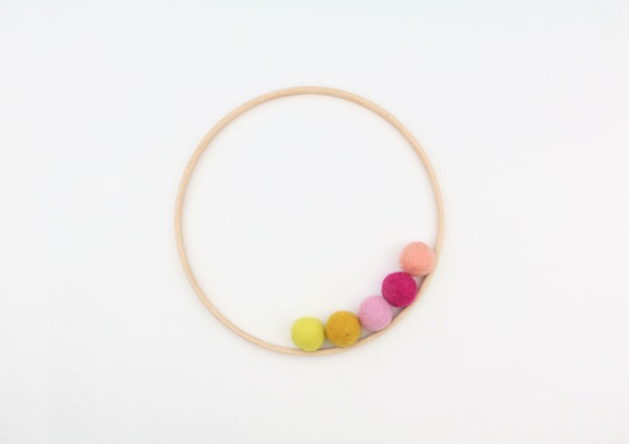 pre-drilled ring made of wood 20 cm diameter wooden ring with holes Accessories for Mobilé Macrame Hoop hoop