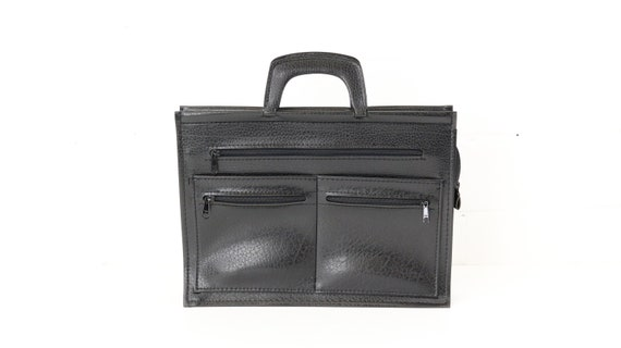 Black Vintage Office Bag Laptop Bag