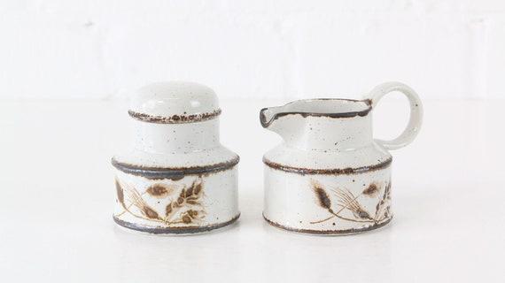vintage coffee set milk & sugar set 2 parts midwinter stonehenge wild oats series vintage spare parts spare parts