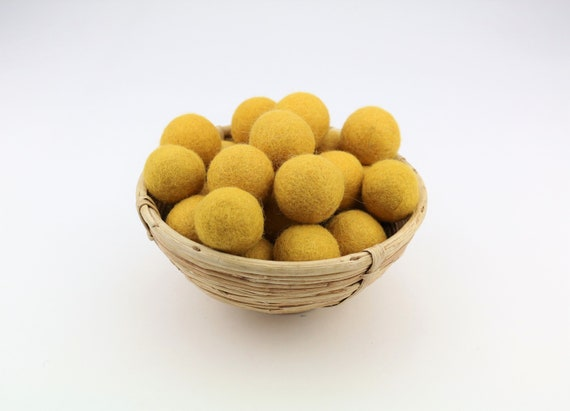 3 cm mustard yellow felt balls for crafting #8 felt balls decoration pom poms different. Colours Felt Balls Garlands Decoration