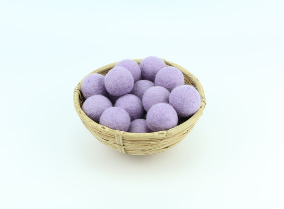 3 cm pale lilac felt balls for crafting #25 felt balls decoration Pom Poms versch. Colors Felt Balls Garlands Decoration