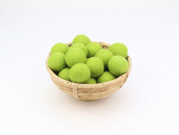 3 cm green felt balls for crafting #3 felt balls decoration pom poms different. Colours Felt Balls Garlands Decoration