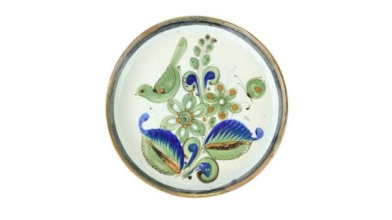 Decorative plate made of Mexican ceramics handmade Mexican ceramic