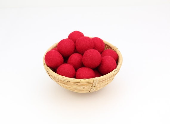 3 cm red felt balls for crafting #13 felt balls decoration pom poms different. Colours Felt Balls Garlands Decoration