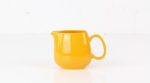 Vintage Melitta milk jug Yellow german retro Pottery