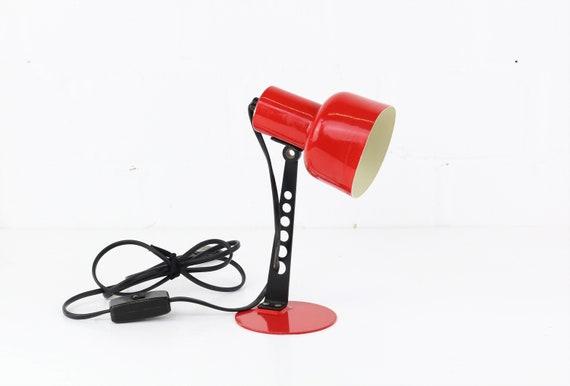 Vintage Desk Light red industrial Design Desk lamp