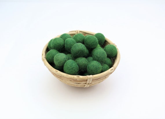 dark green felt balls for crafting #2 felt balls decoration pom poms versch. Colors Felt Balls Garlands Decoration Colorful