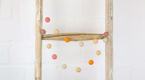 create your own: Garland made of felt balls 1.10m length pom pom garland garland decorate nursery garland baby room