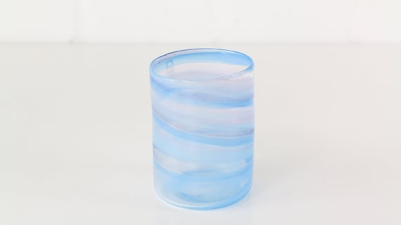 Mdina Glass Malta fine blue vase Midcentury Modern artist glass designer glass beautiful blue glass art