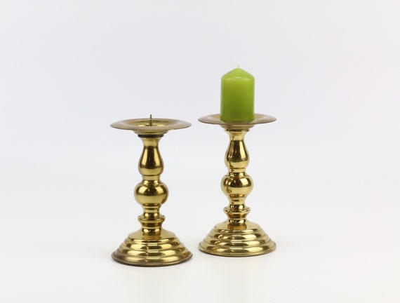 2 er set vintage candlestick from brass boho wedding table decoration candlestick candleholder gold mid century modern brass candle holder