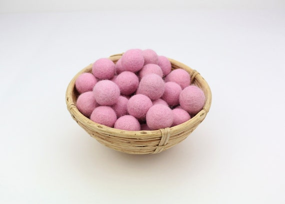 pink felt balls for crafting #20 felt balls decoration pom poms versch. Colors Felt Balls Garlands Decoration Colorful