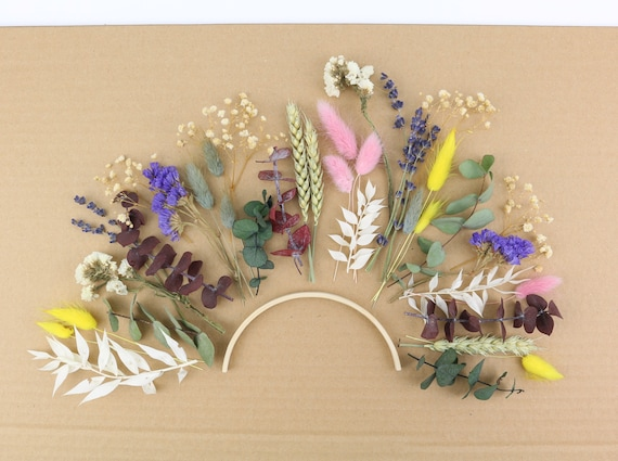 mixed bag dry flowers mix box DIY idea surprise box crafting bouquet wreath ring glass dried flowers gifts pack