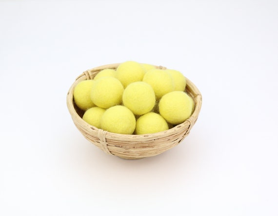 3 cm lemon yellow felt balls for crafting #6 felt balls decoration pom poms different. Colours Felt Balls Garlands Decoration