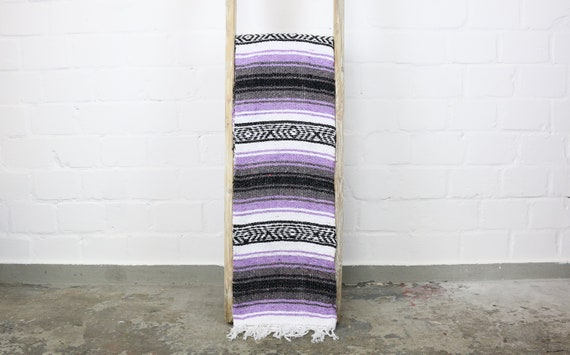 "boho Falsa Decke ""made in Mexico"" Sarape 180 x 70 cm flieder Hot Rod blanket VW Camper accessoire camping lifestyle wanderlust"