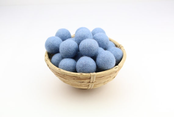 3 cm light blue felt balls for crafting #30 felt balls decoration Pom Poms versch. Colours Felt Balls Garlands Decoration