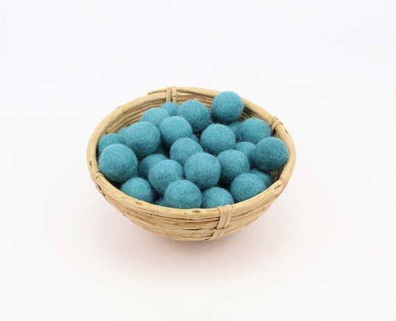 blue-green felt balls 1 cm/ 2.5 cm for crafting #32 felt balls decoration Pom Poms versch. Colors Felt Balls Garlands Decoration colorful