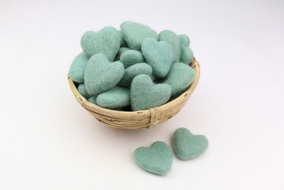 aloe hearts made of felt for crafting #35 decoration pom poms versch. Colors Felt Hearts Garlands Decoration Colorful