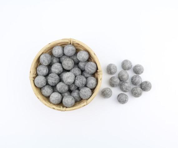 grey-melted felt balls 1 cm/ 2.5 cm for crafting #39 felt balls decoration Pom Poms versch. Colors Felt Balls Garlands Decoration colorful