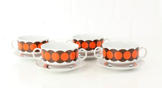 Vintage winterling Suppenset Cups & plates Retro Interior German pottery
