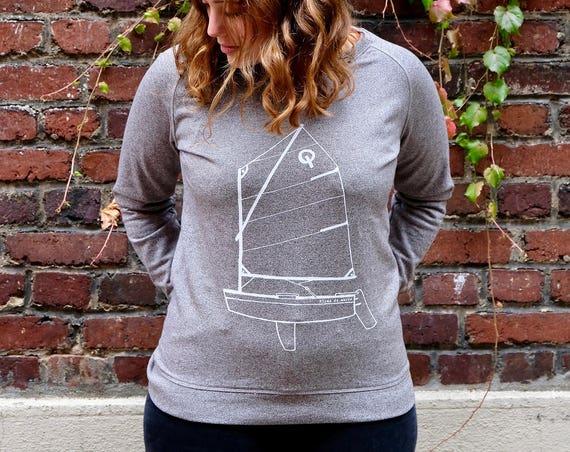 "Sweat - granite - woman Illustration ""Optimist"" ""-organic cotton"