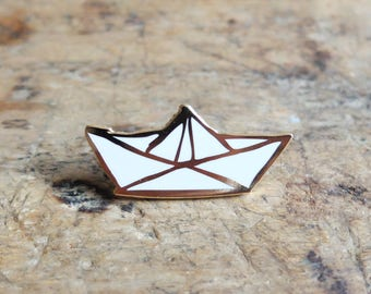 "Brooch pin's ""Sailboat"" - gold"