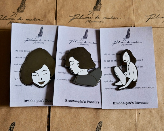 """Set of 3 badges - """"Poetic"""" Collection"""