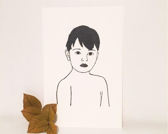 """""""Boy"""" card"""