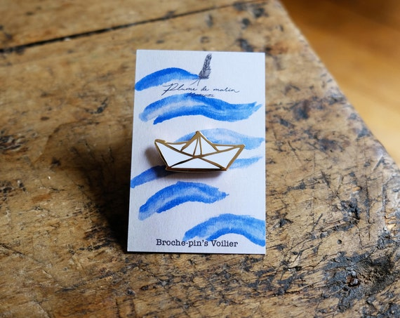 "Badges ""Sailboat"" - gold"
