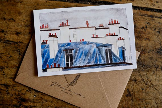 "Card ""Rooftops of Paris"""