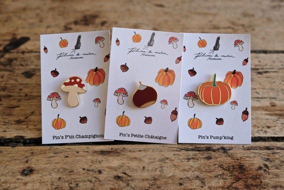 """Set of 3 badges - """"Autumn Leaves"""" Collection"""
