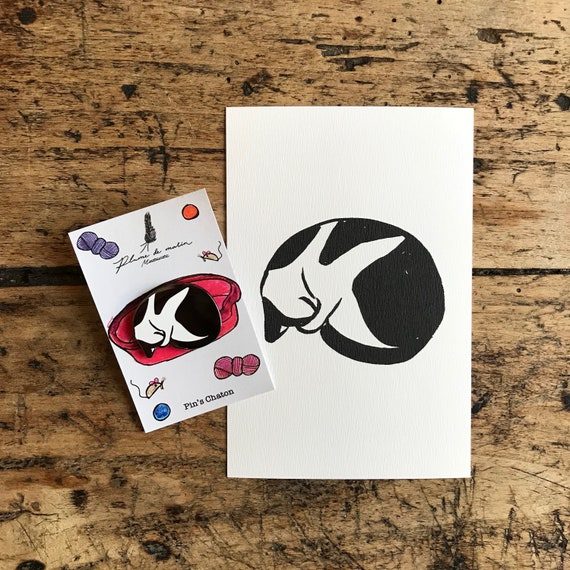 """""""Kitten"""" - a card and a PIN set"""
