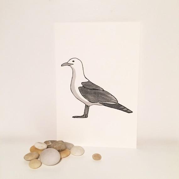 """Seagull"" card"