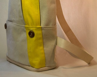waxed canvas day bag