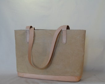 Classic waxed canvas tote