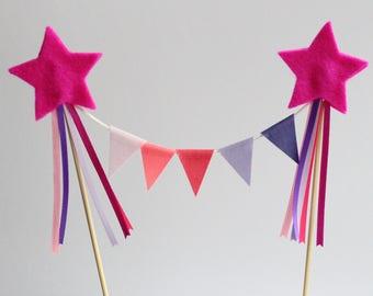 Princess Pink ombre Cake Topper  - birthdays, Smash cake - birthday cake topper