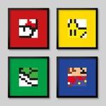 4 Super Mario Nintendo Pixel 8bit Posters - Set 1
