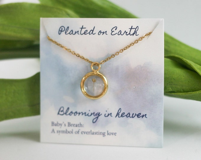 14K Yellow Gold Miscarriage gift, grieving mom gift, miscarriage necklace, stillborn gift, baby loss gift