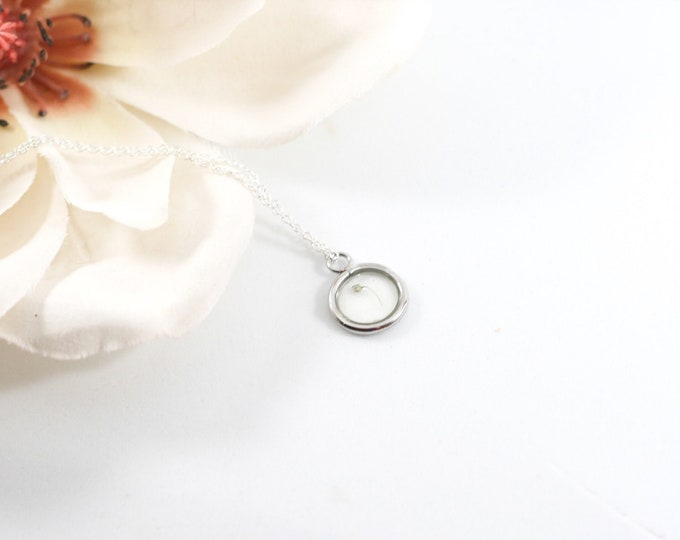 14K White Gold miscarriage gift, grieving mom gift, baby loss, angel baby necklace, first trimester loss, stillborn, missed miscarriage