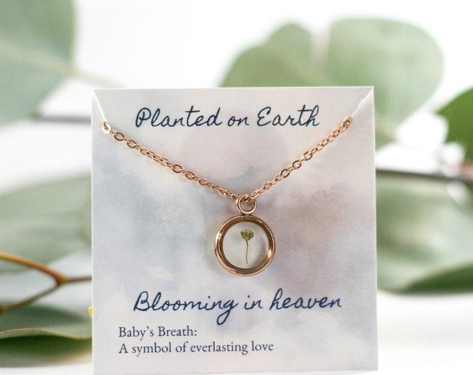 Miscarriage keepsake, stillborn gift, miscarriage gift for moms, miscarriage necklace, miscarriage remembrance, missed miscarriage