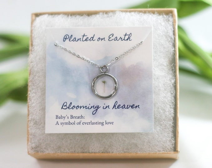 Miscarriage necklace, necklace for angel moms, grieving mom gift, miscarriage gift, baby loss gift, miscarriage gift idea, miscarriages