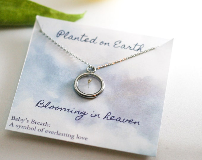 Miscarriage necklace for moms, grieving mom gift, miscarriage gift, angel baby, miscarriage gift, baby loss gift
