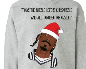 f4b2ca8a68c5c1 Snoop Dog Fo Shizzle Dizzle, Snoop Dog Ugly Christmas Sweater, Funny Ugly  Christmas Sweater, Holiday Gift